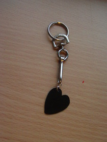 Valentines' Heart Shaped Guitar Plectrum Keyring