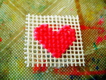 How To Cross Stitch A Heart