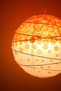 Diy Dotted Tissue Paper Lantern