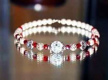Valentines Inspired Pearl Bracelet