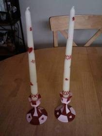 Easy, Cute V Day Candle Sticks