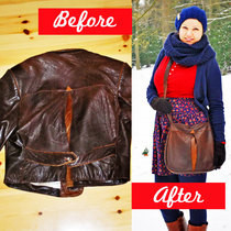 Leatherbag From Old Leatherjacket Refashion