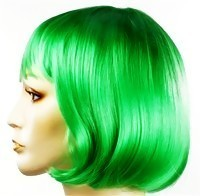 Green To Blue Dye Synthetic Wig