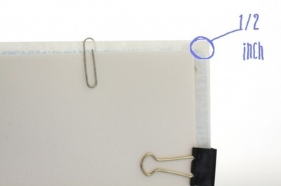 How to make a bound book. Pocket Notebook - Step 3