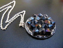 """Studded"" Rhinestone Bottlecap Pendant"