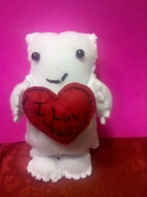 I Luv You Valentine's Dr Who Adipose Plushie