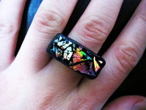 Iridescent Cd Modern Clay Ring