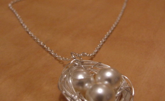 Pearl Birds Nest Necklace