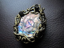 Gold Antique Mirror Pendant