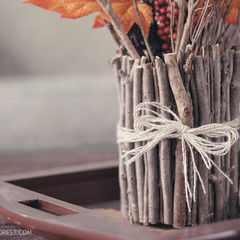 Make A Vase Out Of Sticks!