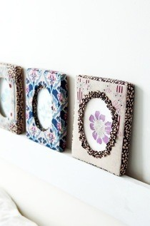 Liberty Cross Stitch Photo Frames