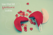 Love Filled Felt Fortune Cookies!