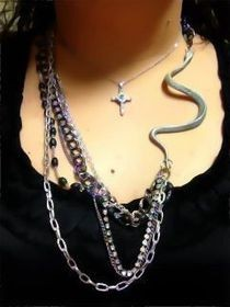 Super Simple Super Cheap Silver Snake Necklace