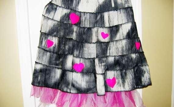 Up Cycled Sweet Heart Skirt