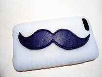 Leather Mustache Ipod Case
