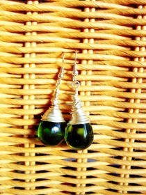 Wire Wrapped Olive Drops :)