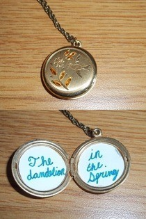 "Hunger Games ""Dandelion"" Locket"