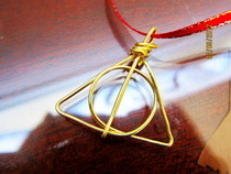 Wire Deathly Hallows Charm