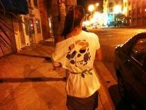 Cut Out Skull Tee