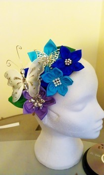 Colourful Head Piece With Butterflies.