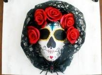 Dios De Los Muertos One Of A Kind Mixed Media Wall Art