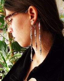 Ear Wrap With Paper Beads
