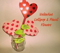 Valentine Lollipop And Pencil Flowers