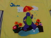 Kids T Shirt With Felt Applique