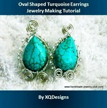 Oval Shaped Turquoise Earrings Tutorial