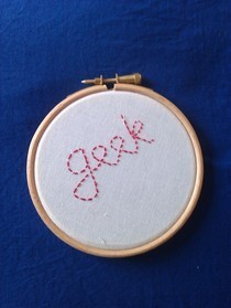 Anti Valentines Embroidery Hoop