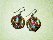 Beaded Paper Earrings