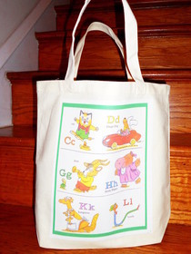 Canvas Tote With Iron On Patches