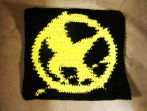 Crochet Hunger Games Pin Square
