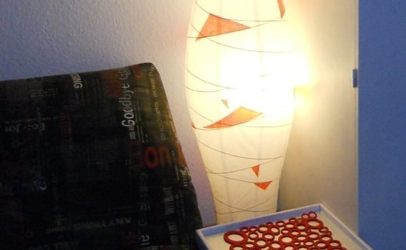 Ikea Paper Lamp Made To Match An Urban Interior