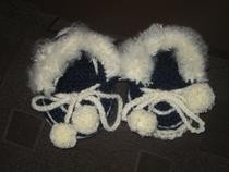 These Are My Hand Crocheted Babie Moccasins. That I Am Thinking Of Starting To Sell