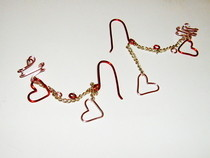 Valentine's Day Cuff Earrings