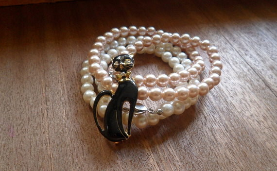 Quick And Easy  Multi Strand Pearl Bracelet