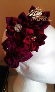 Burgandy Head Piece.