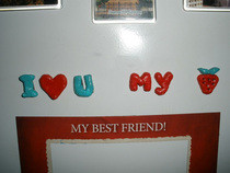 I Love U Magnets On The Fridge