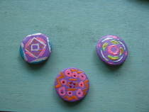"Hand Painted Badges ""Spillete""..."