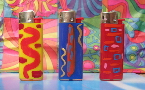 Hand Painted Lighters