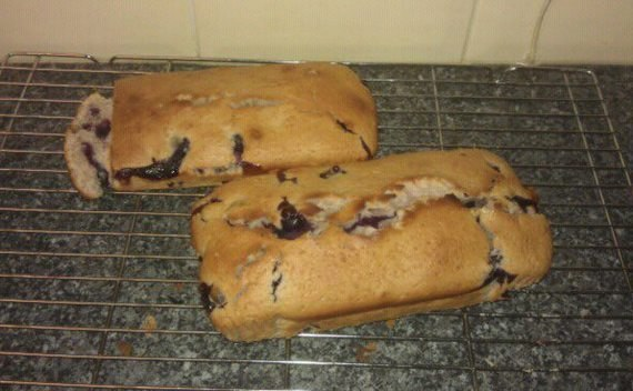 Honey Yoghurt And Blueberry Loaf Cake