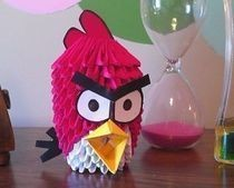 3 D Origami Angry Bird