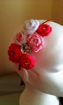 Rolled Roses And Diamantes.
