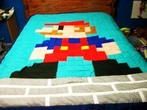 Mario Quilt Block