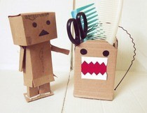Cardboard Domo Kun And Danbo :)