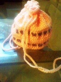 Drawn String Crochet Bag