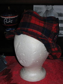 Plaid Lazy Top Hat