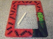 Hand Painted Frankenstein Frame