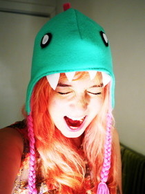 Fleece Dino Hat